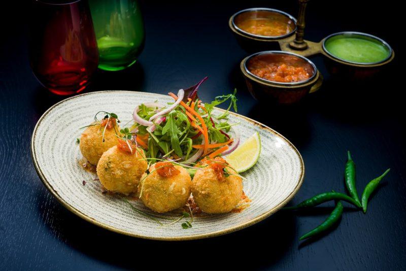 Vegetarian Dahi ke Kabab with Tamarind Chutney